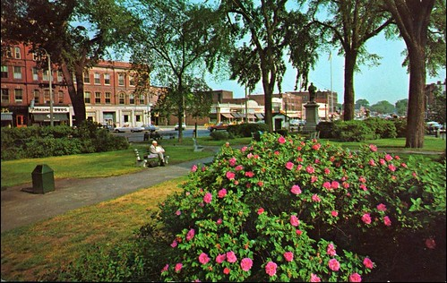 Central Square in Keene NH in summer