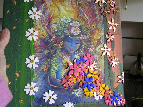 flower cutter fairy por Poppins Mosaics and Crafts