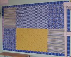 A lopsided bulletin board