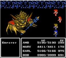 El Emperador Palamecia al final del juego, mostrando toda su maldad.