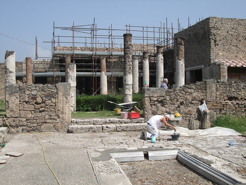Pompei - Archeologists at Work