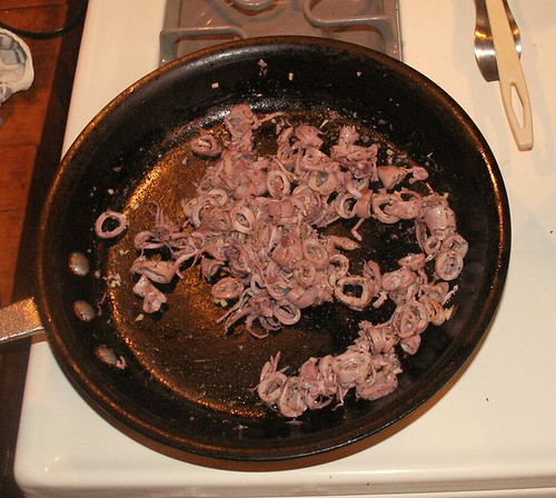 Sauteing the squid