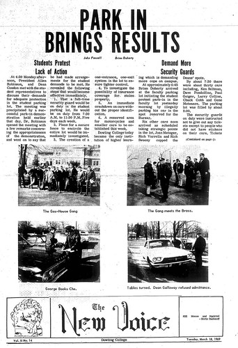 The New Voice student newspaper for March 18, 1969.