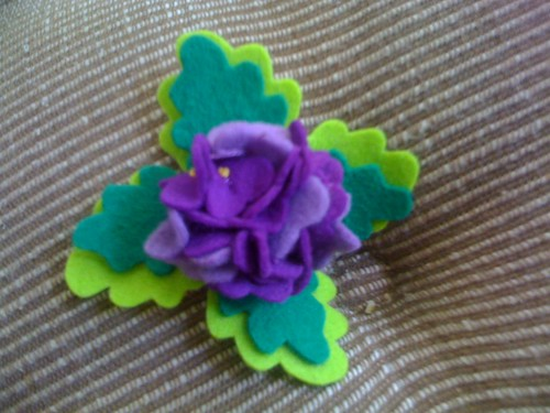 Heather Bailey Spring Violets Pin