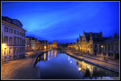The Leie River, Grasbrug, Gent