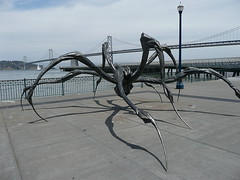 Crouching Spider with Bay Bridge