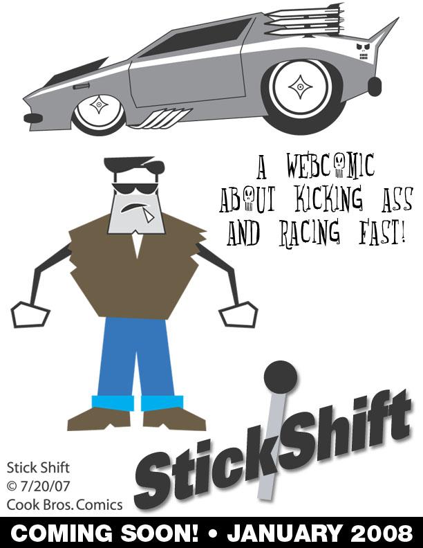 Stick Shift the webcomic teaser