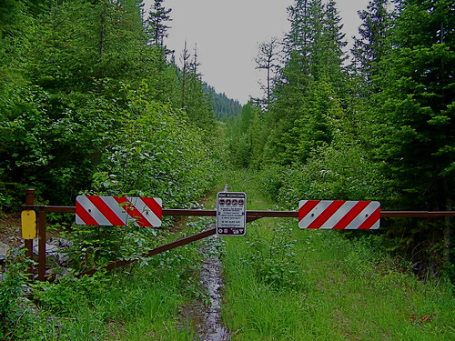 USFS road 7581 at the non-motorized area