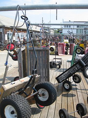 Wagons on Ocean Beach, Fire Island
