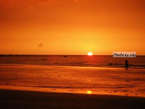 美麗的淡水夕陽。