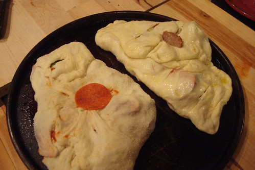 Calzones on the grill