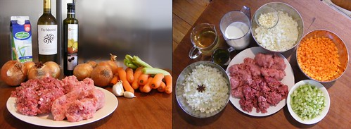 Ingredients for Blumenthal's Meat-sauce for Spag Bol