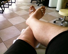 The end of my pedi.