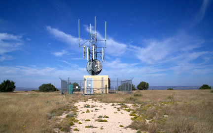 Transmitter on top of Tucumcari Mountain.