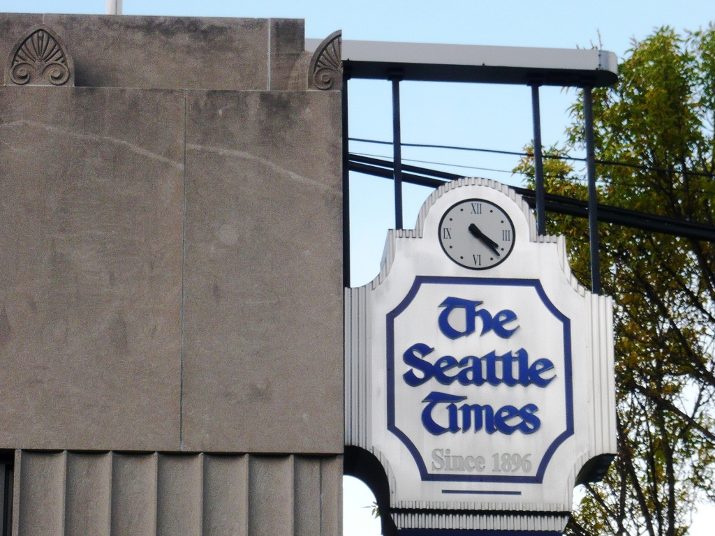The Seattle Times sign