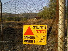 Some are still left on the Golan Heights, some are being planted on Wikipedia - Beware of the mines. (Image by Randall Niles via Flickr)