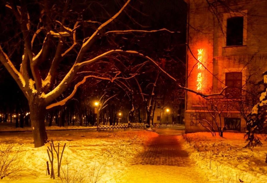 A Midnight Walk in Ukraine