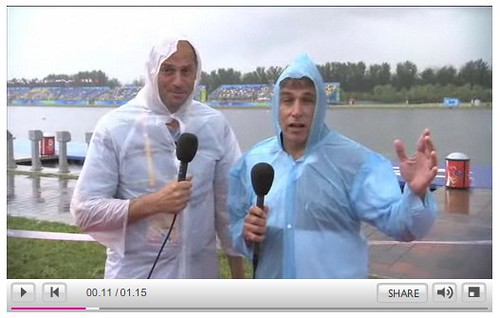 Sir Steve gets soaked