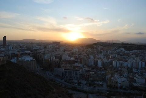 Atardecer en Alicante