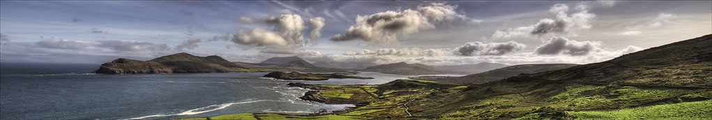 View across Valentia Harbour. Panoramic