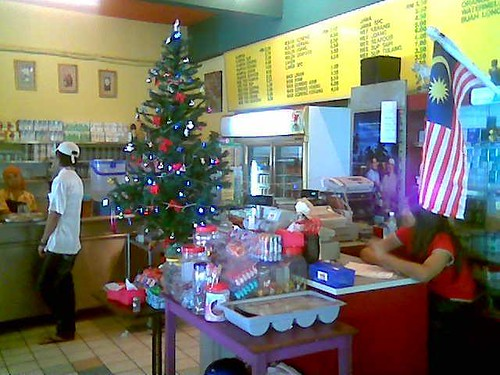 Sibu's Rafie Cafe - Christmas tree