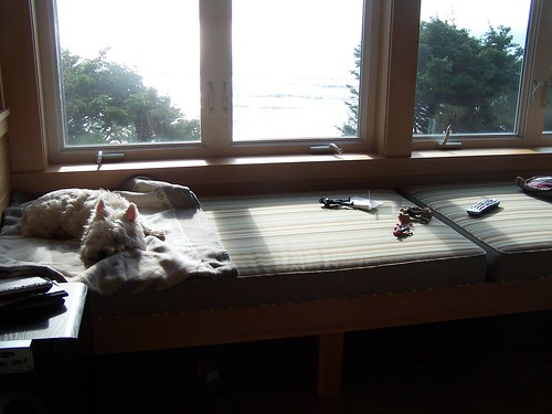 beach house window seat