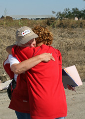 A hug goes a long way in Cameron, LA