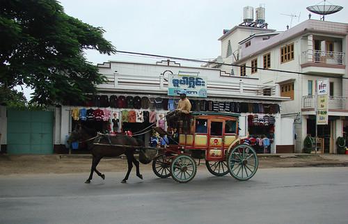 Carro de caballos público