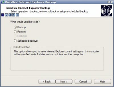 Internet Explorer Backup