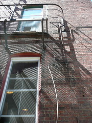 Fire escape shadows