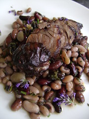 Lavender and Rosemary Lamb Neck Fillet with Bean Salad