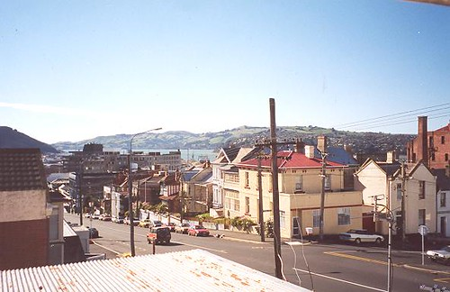 Looking down Dunedin's High Street