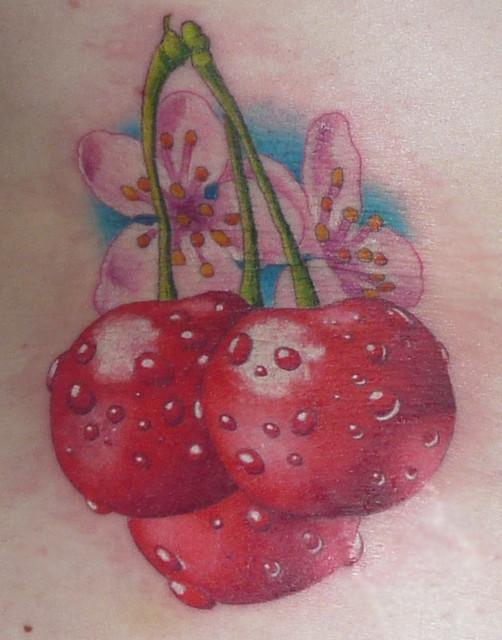 my new cherry tattoo