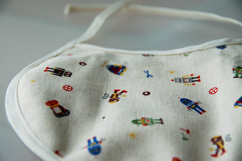 Baby bib with Japanese fabric, for Carter