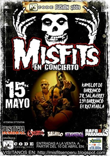 Afiche Misfits en Lima, Peru