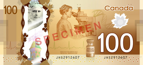 New Canadian bill depicting medical research and innovation