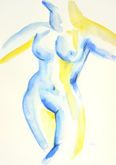 Watercolor nudes