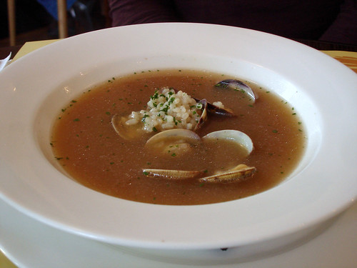 Fish and Rice Soup with Clams