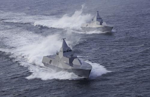 Swedish Navy's Stealth Corvettes: HMS Visby and HMS Helsingborg
