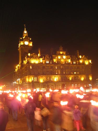 Balmoral Hotel & Torchlight Procession