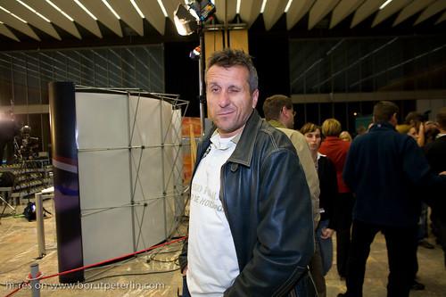 Miran Ališič, a sport journalist from POP TV on Parlamentarial elections 2008 in Slovenia._3314