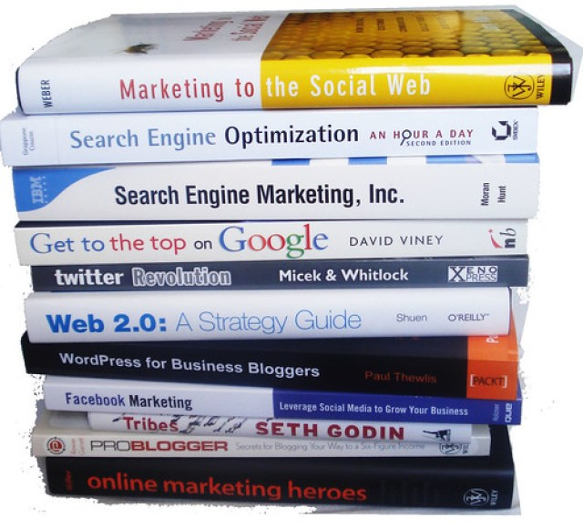 SEO Books - image by marciookabe on Flickr