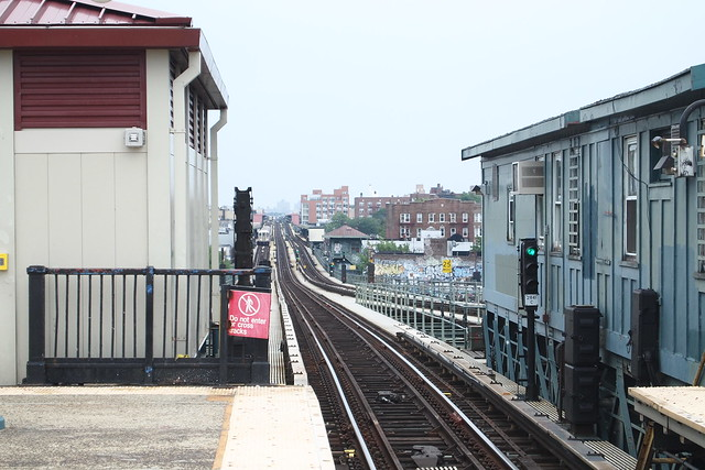 Elevated tracks undulate as they stretch north and east into Queens on the 7 line