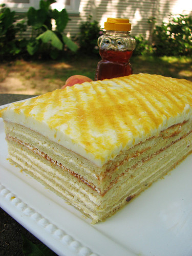 Peach & Honey Opera Cake
