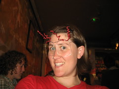 Carmen and some spectacles she made, Craft Night, Notting Hill Arts Club, July 7, 2008