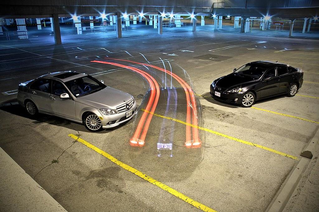 Mercedes C230, BMW 323i, Lexus IS250 AWD