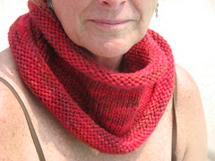 Dolores Park Cowl; Lornas Laces Shepherd Bulky, Red Rover