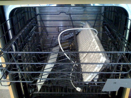 And for my next trick, a keyboard in the dishwasher!