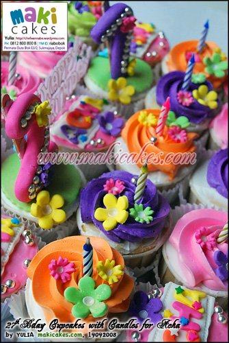 27th Bday Cupcakes for Acha__ - Maki Cakes