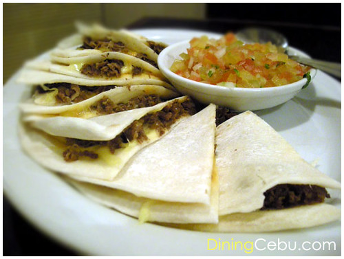 Restaurant in Cebu Philippines - Cafe Georg Quesadillas